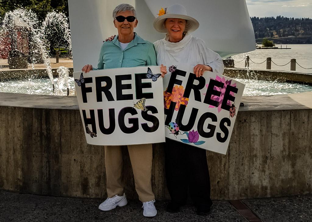 Hugging Kelowna